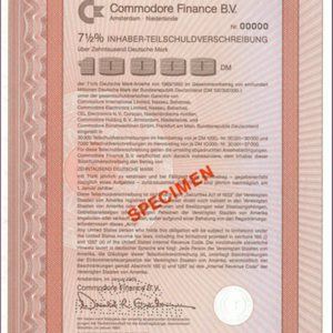 Commodore Finance B.V. (IT014)