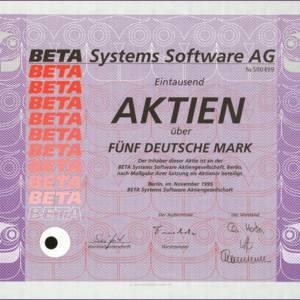 Beta Systems Software Aktiengesellschaft (IT007)