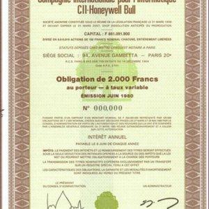 CII Honeywell Bull - Compagnie Internationale pour l`Informatique (IT011)