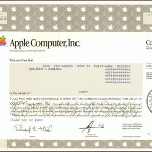Apple Computer, Inc. (IT003)