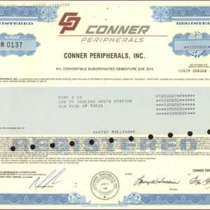 Conner Peripherals, Inc. (IT016)