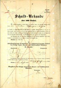 Schuldentilgungs-Commission der Leichenbeerdigungs-Anstalt der königlich bayerischen Haupt- und Residenzstadt München (MF009)
