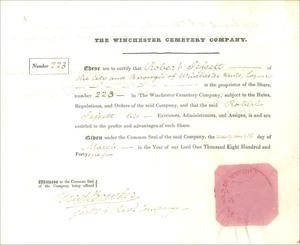 The Winchester Cemetery Company (MF018)