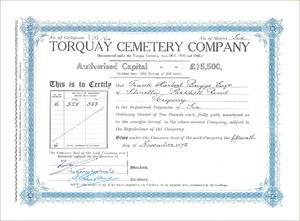 Torquay Cemetery Company (MF006)