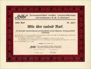 """""""Hilfe"""" Vertragsgesellschaft deutscher Lebensversicherungsunternehmungen AG (VU11)"""