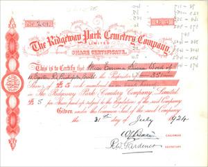 Ridgeway Park Cemetery Company Limited (MF004)
