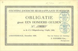 Stichting Joodsche Begraafplaats te Rijswijk (MF011)